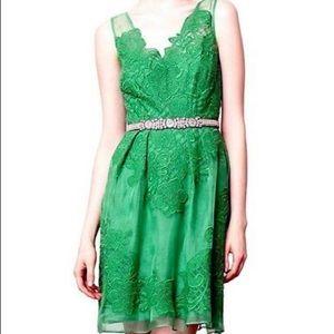 Green clover leaf Baraschi dress